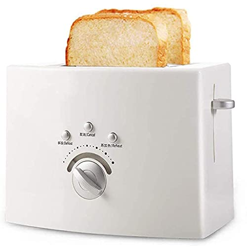 Toaster 2 Slice Toaster, White Small Toaster with Defrost/Reheat/Cancel Function, 6 Shade Settings, Extra Wide Slot, Removable Crumb Tray, Quickly Breakfast Maker Home Toaster for Bread, Waf