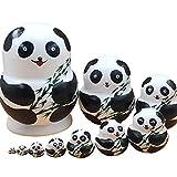 zdz 5,9 Pulgadas Matryoshka, Juego de 10 muñecas de anidación Rusas de Juguete de Juguete de Alto Nivel de Madera, para Christma, Regalo de cumpleaños (Color : White)