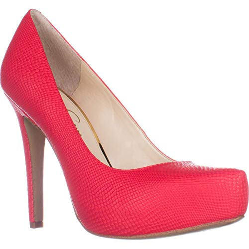 Price comparison product image Jessica Simpson Womens parisah Pointed Toe Classic Pumps,  Passion,  Size 8.0