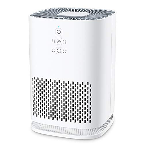 Product Image of the Elechomes EPI081 Air Purifier for Home with True HEPA Filter, Air Cleaner Purifiers for Allergies and Pets Smokers Pollen Dust, Odor Eliminators for Home Bedroom with Aromatherapy, 215 sq. ft