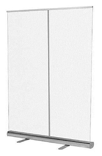 Transparente Rollup Banner Biombos Pantalla De Estornudo Ancha Transparente   Pantalla De Partición De Protección De Pie Para El Suelo Para Salón, Gimnasio, Oficinas, Pub, Divisor De Barra De Uñas ofi
