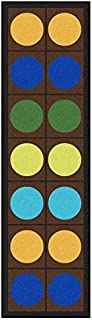 Joy Carpets Kid Essentials Early Childhood Runner Lots of Dots Rug, Earthtone, 2'1