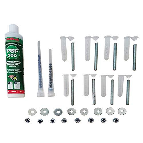 BodyStrongFitness Kit Fissaggio Professionale Sbarra trazioni Muro-Parete Chimico