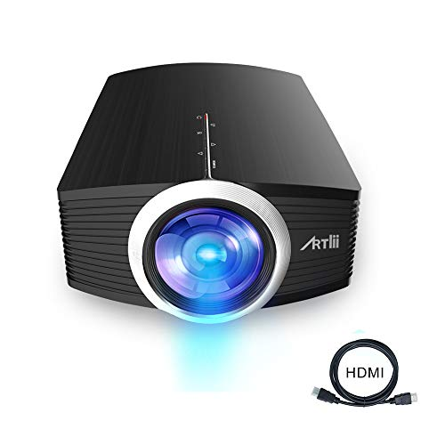Artlii Mini Projector - Portable Projector for Kids, Eye Protection,Built-in HiFi Speaker,2000 Lumens Brightness,160 Inch Screen,Compatible with Laptop, iPhone Smartphone