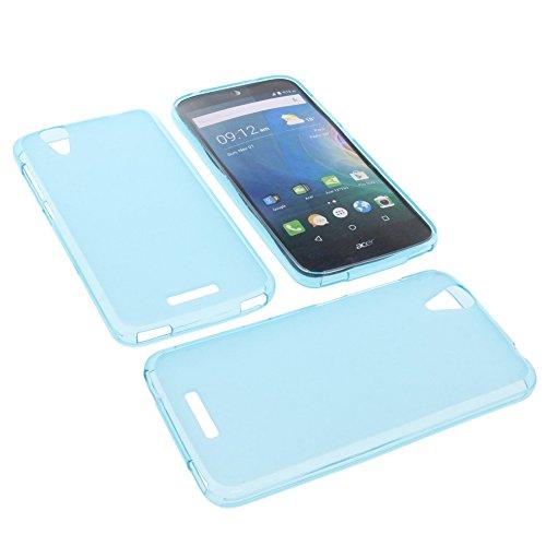 foto-kontor Tasche für Acer Liquid Z630 Liquid Z630S Liquid M630 Gummi TPU Schutz Hülle Handytasche blau