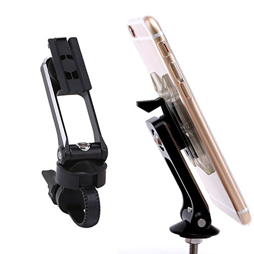 Vinqliq Universal Bike Cycling Stem Cap Phone Mount Holder with Additional Handlebar Mount and 3M Sticky Pad for iPhone Xs XR X 8 8Plus 7 7Plus iPhone 6 6S Plus SE, Samsung, and Other Smartphone