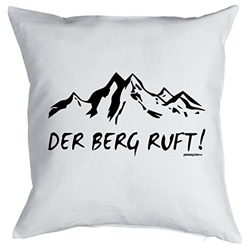 Apaisant Après Ski Coussin la Montagne RUFT. Petit présente le ski, Goodman Design® Blanc