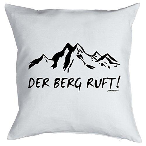 Kissen mit Füllung für Bergsportfans - DER BERG RUFT! Wandern, Klettern, Bergsteigen, Ski und Snowboard