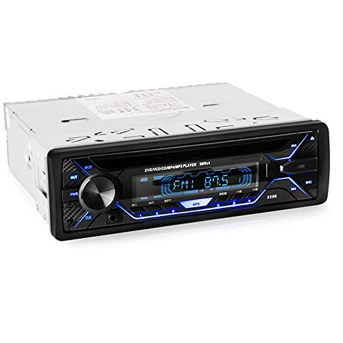 Alondy Autoradio CD DVD-Player Stereo-Steuergerät Bluetooth 1 DIN 12V MP3 USB TF AUX FM