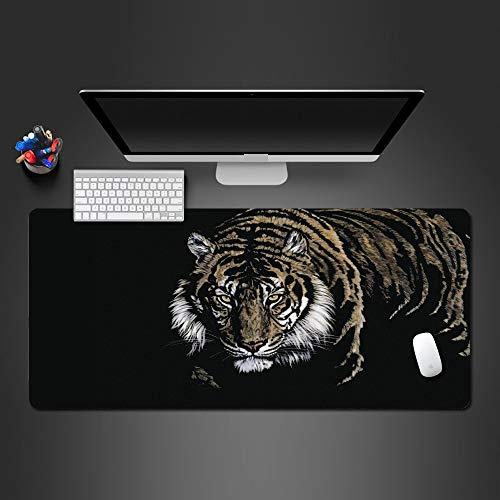 60*30cm*3mmWilder Tiger Mauspad Gummi waschbar Wot Gamepad Pro Premium Büro Computer Tastatur Maus Schreibtisch Mats Weihnachtsgeschenke