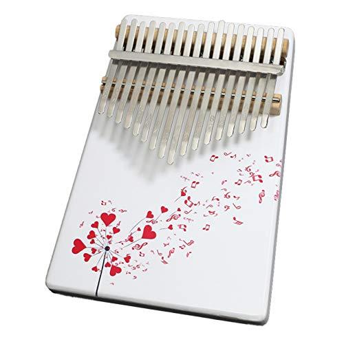 Gemaltes Handwerk Thumb Piano,Kalimba 17 Schlüssel Tragbare Kiefer Holz Klavier,Finger Percussion Tastatur Für Kinder Erwachsene Anfänger, Mit Tune Hammer,(18Cm X 1 D7