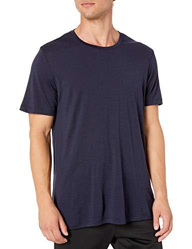 Icebreaker T-Shirt à Manches Courtes en Laine mérinos pour Homme Tech Lite SS Crewe Tech Lite S/M Bleu Marine