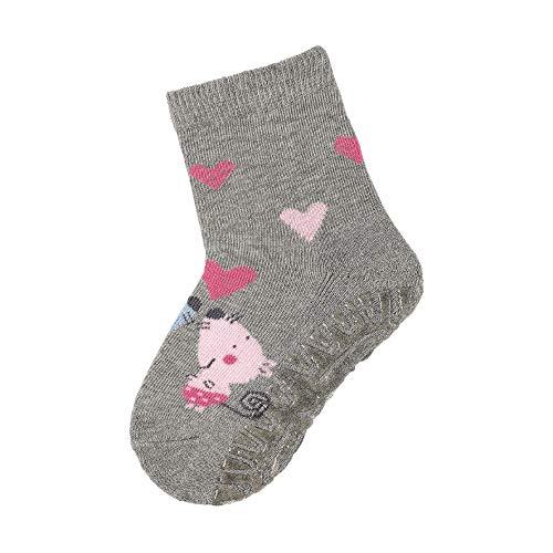 Sterntaler Baby - Mädchen Socken Fli Fli Air Mäuse, Silber (Silber Mel. 542) , 28 (Herstellergröße: 28)