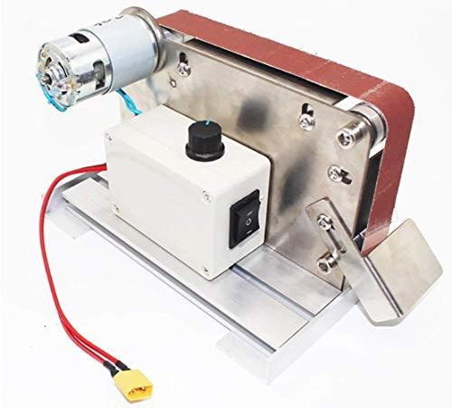 BINGFANG-W Discs Mini-Bandschleifer Desktop-Elektro Grinder DC 24V for Holz Sharpener 12000rpm Sandmühle Speed & Gurt-Größe von 30 * 533mm Abrasive