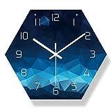 1個 六角形 ストラップ壁時計 デジタルタイム セイコークロック 壁面に自由に設置できる 配達3〜5労働日まで