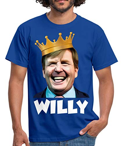 Spreadshirt Koning Willem-Alexander Grappige Koningsdag Mannen T-shirt