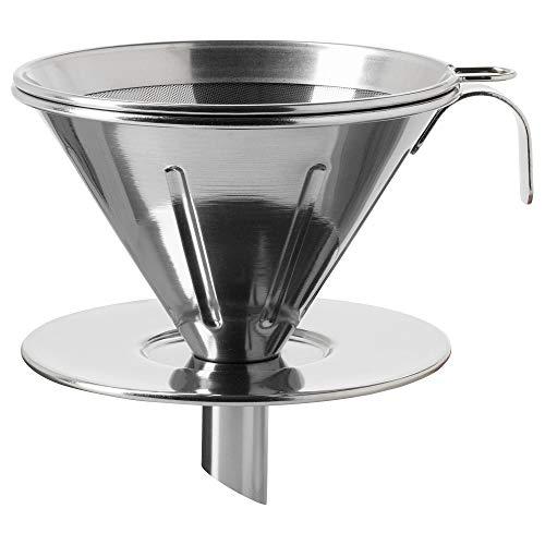 IKEA 903.602.34 Överst Metall-Kaffeefilter, Edelstahl