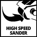 Einhell Bandschleifer TE-BS 8540 E (850 W, Schleiffläche 75x140 mm, Drehzahl-Elektronik, präziser Bandlauf, Staubabsaugung, werkzeugloser Schleifbandwechsel, Softgrip, inkl. 1x P80 Schleifband) - 10
