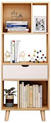 TEHWDE staande kleine boekenplank opslag rek gebruik in huis, woonkamer, studie, kantoor leunende ladder boekenkast rekken houten rek opslag muur plank organisator 50 * 25 * 123cm