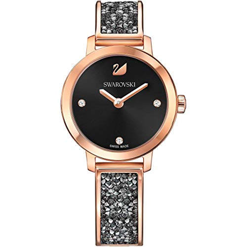 Swarovski 5376068 Cosmic Rock - Reloj de pulsera de metal, color negro y oro rosa