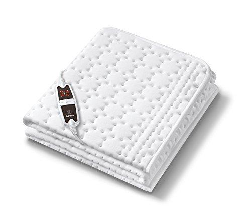 Beurer UB 67 Cosy Spann-Wärmeunterbett (Extra warme Fußzone, 4 Temperaturstufen, Universalgröße 90 x 200 cm / 100 x 200 cm)