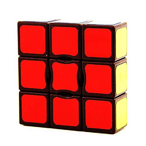 BestCube 1x3x3 Magic Cube, Sticker Super Floppy 133 Speed Cube, Black
