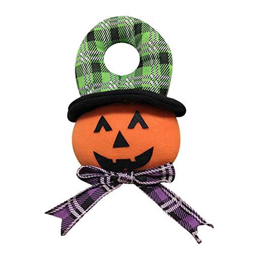 MOIX Spukhaus Deko Halloween hängende Verzierungstür, die 1pc, Kürbisfeiertagsfeierdekorationen hängt Hut Vogelscheuche kürbis Lampe