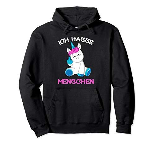 Ich hasse Menschen Einhorn Unicorn Fun Lustig Pullover Hoodie