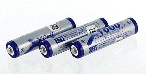 Accu compatibel met Philips DECT 727 | 3x1.2 Volt | 1000 mAh NiMH accu