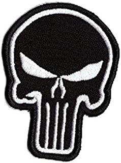 Embroidered The Punisher armband stitch on patch for bags jackets shirts caps etc