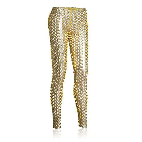 L Big Boss Lederhose für Erwachsene, Punk-/Gothic-Stil, mit Aussparung Gr. one size, gold