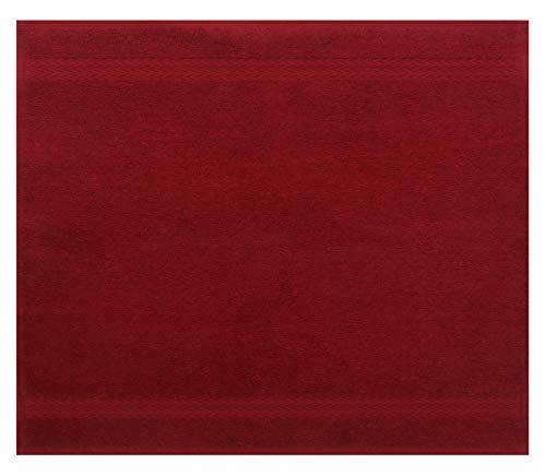 Betz Serviette débarbouillette Lavette Taille 30 x 30 cm 100% Coton Premium Couleur Rouge foncé