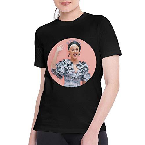 Sportswear heren shirt met korte mouwen, T Shirts voor vrouwen Cool Katy Perry Tshirt zwart
