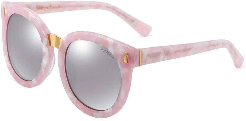 Polarized Sunglasses Lady Retro colorful Film Couple Round Frame Trend Sunglasses B