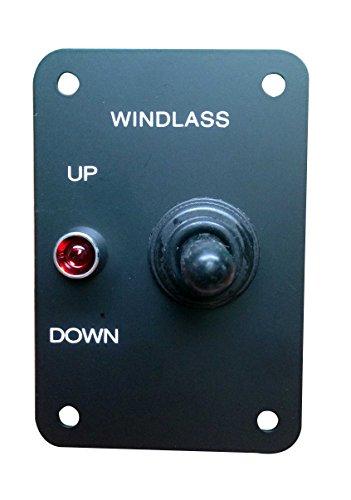 Marine Boat Anchor Windlass Return Toggle Switch Aluminum Plate 2 Way LED Light