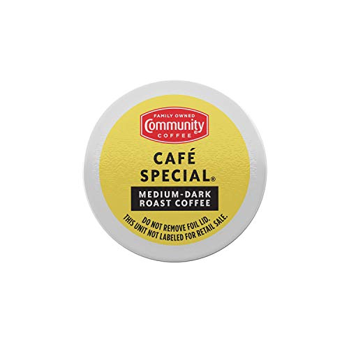 Community Coffee Café Special 96 Count Coffee Pods, Medium-Dark Roast, Compatible with Keurig 2.0 K-Cup Brewers (24 Count, Pack of 4)