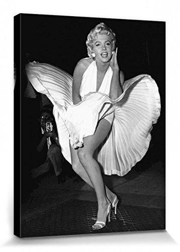 1art1 Marilyn Monroe - Das Verflixte 7. Jahr, Weißes Kleid Bilder Leinwand-Bild Auf Keilrahmen | XXL-Wandbild Poster Kunstdruck Als Leinwandbild 80 x 60 cm