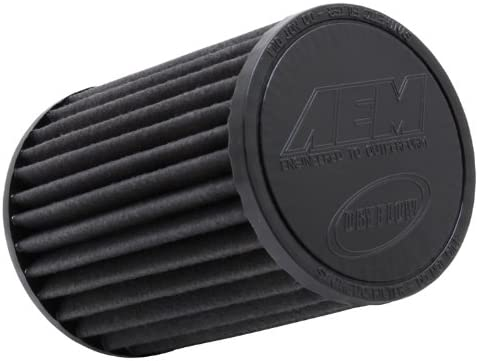 AEM 21-2047BF Universal Large discharge sale DryFlow Ranking TOP18 Clamp-On Air Taper Filter: Round