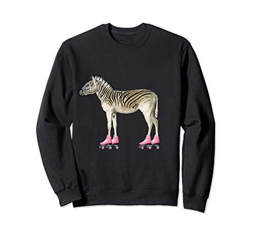 Rollschuh Roller Girl Geburtstag Zebra Sweatshirt