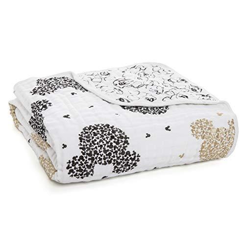 Aden + Anais Dream Blanket | Boutique Muslin Baby Blankets for Girls & Boys | Ideal Lightweight Newborn Nursery & Crib Blanket | Unisex Toddler & Infant Bedding, Shower & Registry Gift, Mickey's 90Th