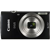 """Canon IXUS 185 - Cámara compacta de 20 MP (pantalla de 2.7"""", Digic 4+, 16x ZoomPlus, vídeo HD, modo Smart Auto, Date Button, Easy Auto) negro"""