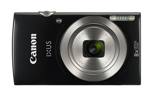 "Canon IXUS 185 - Cámara compacta de 20 MP (pantalla de 2.7"", Digic 4+, 16x ZoomPlus, vídeo HD, modo Smart Auto, Date Button, Easy Auto) negro"