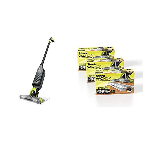 Shark VM252 VACMOP Pro Cordless Hard Floor Vacuum Mop with Disposable Pad + Shark VMP30 VACMOP Disposable Hard Floor Vacuum and Mop Pad Refills, 30 Count