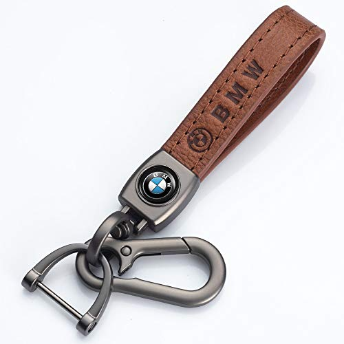 NOFEAR Suit for BMW Genuine Leather Car Logo Keychain Suit for BMW 1 3 5 6 Series X5 X6 Z4 X1 X3 X7 7 Series, M Key Chain Keyring Family Present for Man and Woman (1 pcs)