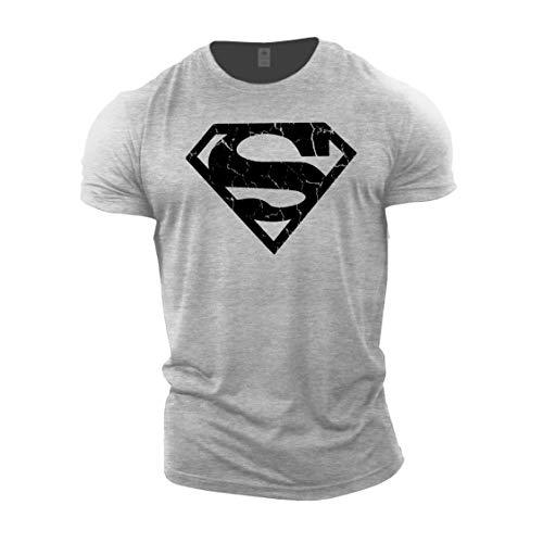 GYMTIER Bodybuilding-T-Shirt der Männer - Superhero Vascular - Fitness-Trainingsoberteil
