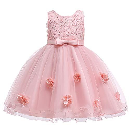 Julhold Kleinkind Art Baby Mädchen Mode Elegante Spitze Blume Prinzessin Party...