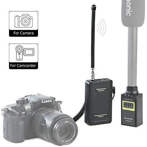Saramonic WM4CB Sistema de micrófono de receptor y transmisor inalámbrico VHF portátil profesional para usar micrófono XLR con cámara réflex digital Sony Nikon de Canon Nikon para Entrevista ENG