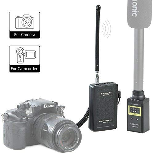 Saramonic WM4CB Professional Portable VHF Wireless Transmitter and Receiver Mic System for Using XLR Microphone with Canon Nikon Sony Panasonic DSLR Camera for News Gathering Reporting ENG Interview