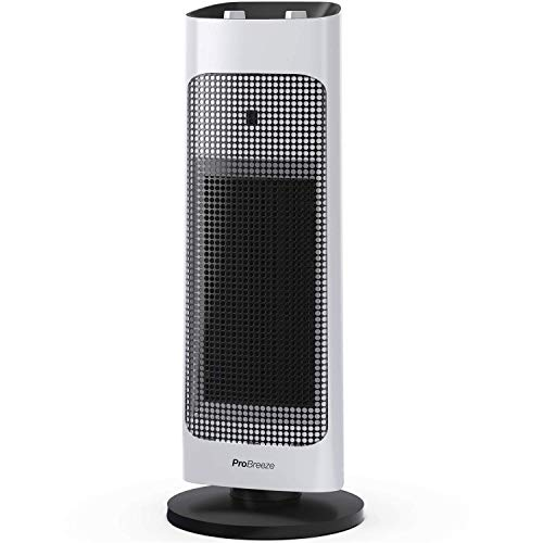 Pro Breeze® 2000W Ceramic Tower Fan Heater with...