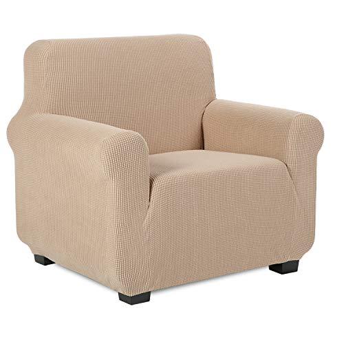 TIANSHU Sesselbezüge,Spandex Sofabezug Stretch Couchbezug Elastischer Antirutsch Stretchhusse Weich Stoff,Jacquard-Stretch-Sofabezug, sesselbezug Schonbezug für Sofa-Sofahalter (Sesselbezüge,Sand)